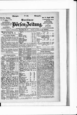 Berliner Börsen-Zeitung vom 10.08.1873