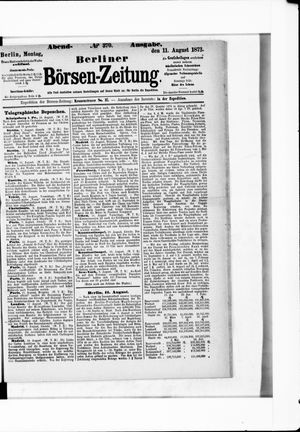 Berliner Börsen-Zeitung vom 11.08.1873