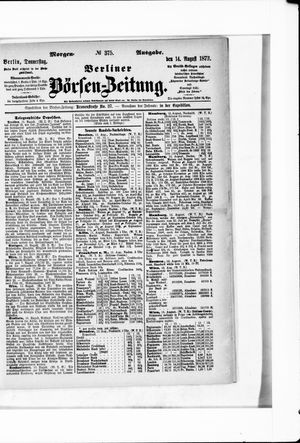 Berliner Börsen-Zeitung vom 14.08.1873