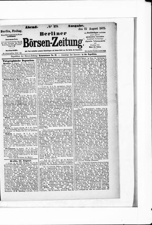 Berliner Börsen-Zeitung vom 15.08.1873