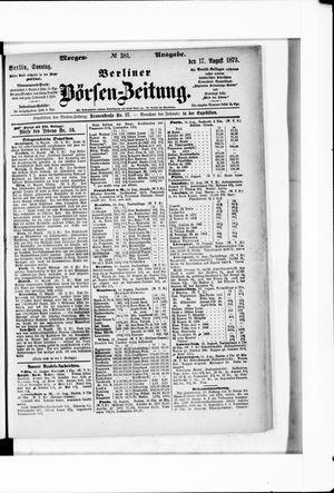 Berliner Börsen-Zeitung vom 17.08.1873