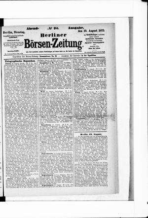 Berliner Börsen-Zeitung vom 19.08.1873