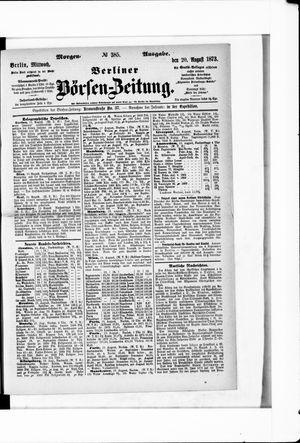 Berliner Börsen-Zeitung vom 20.08.1873