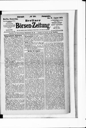 Berliner Börsen-Zeitung vom 21.08.1873
