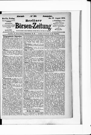 Berliner Börsen-Zeitung vom 22.08.1873
