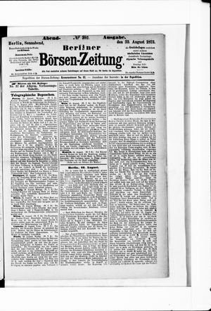 Berliner Börsen-Zeitung vom 23.08.1873