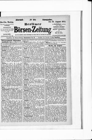 Berliner Börsen-Zeitung vom 25.08.1873