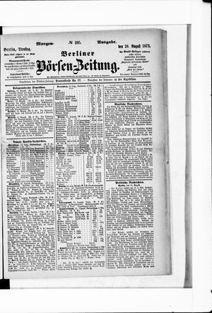 Berliner Börsen-Zeitung vom 26.08.1873