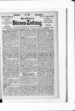 Berliner Börsen-Zeitung vom 27.08.1873