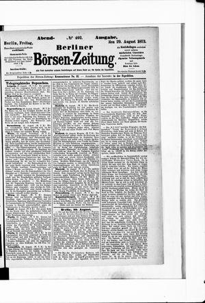 Berliner Börsen-Zeitung vom 29.08.1873