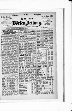 Berliner Börsen-Zeitung vom 31.08.1873
