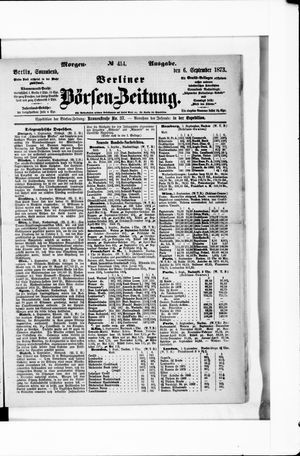 Berliner Börsen-Zeitung vom 06.09.1873