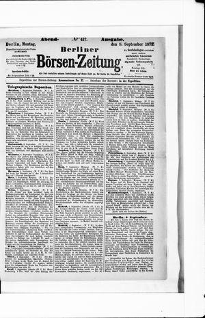 Berliner Börsen-Zeitung vom 08.09.1873