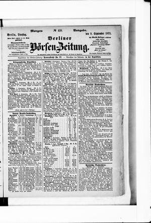 Berliner Börsen-Zeitung on Sep 9, 1873