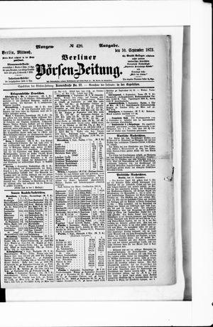 Berliner Börsen-Zeitung vom 10.09.1873