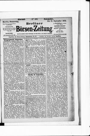 Berliner Börsen-Zeitung vom 11.09.1873