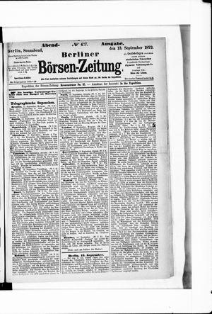Berliner Börsen-Zeitung vom 13.09.1873