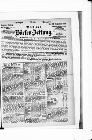 Berliner Börsen-Zeitung vom 14.09.1873