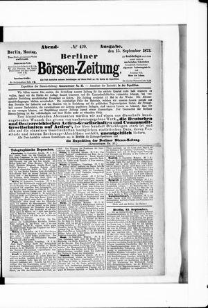 Berliner Börsen-Zeitung vom 15.09.1873