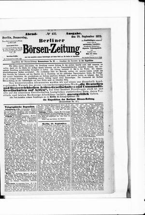Berliner Börsen-Zeitung on Sep 18, 1873