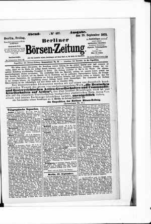 Berliner Börsen-Zeitung vom 19.09.1873