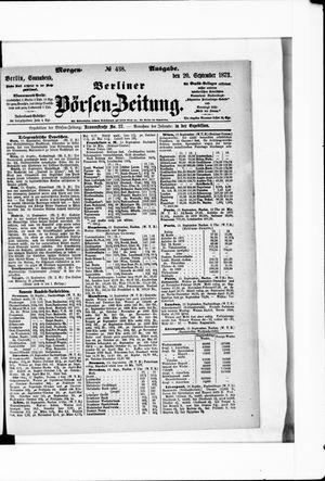 Berliner Börsen-Zeitung vom 20.09.1873