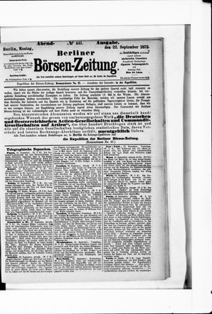 Berliner Börsen-Zeitung vom 22.09.1873