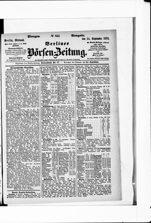 Berliner Börsen-Zeitung vom 24.09.1873
