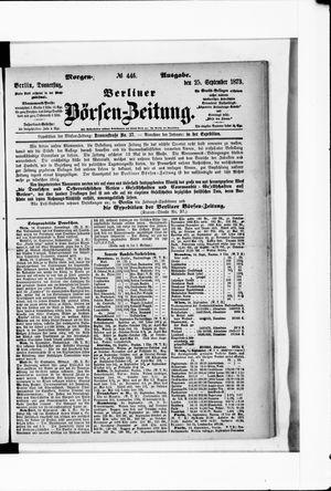 Berliner Börsen-Zeitung on Sep 25, 1873
