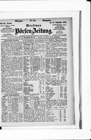 Berliner Börsen-Zeitung on Sep 26, 1873