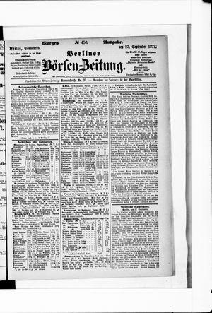 Berliner Börsen-Zeitung vom 27.09.1873
