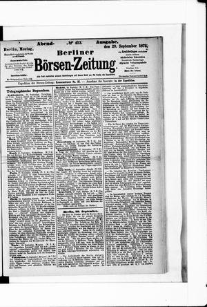 Berliner Börsen-Zeitung vom 29.09.1873