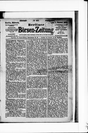 Berliner Börsen-Zeitung vom 01.10.1873
