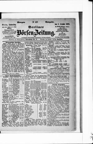 Berliner Börsen-Zeitung vom 02.10.1873