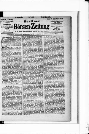 Berliner Börsen-Zeitung vom 03.10.1873
