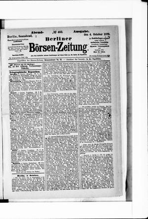 Berliner Börsen-Zeitung vom 04.10.1873