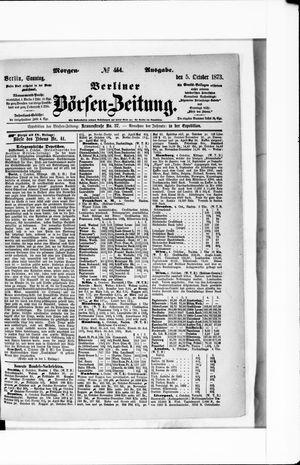 Berliner Börsen-Zeitung vom 05.10.1873