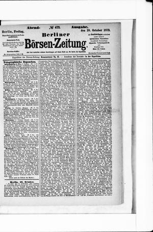 Berliner Börsen-Zeitung vom 10.10.1873