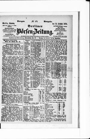 Berliner Börsen-Zeitung vom 12.10.1873