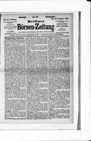 Berliner Börsen-Zeitung vom 13.10.1873