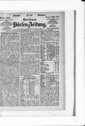 Berliner Börsen-Zeitung vom 17.10.1873