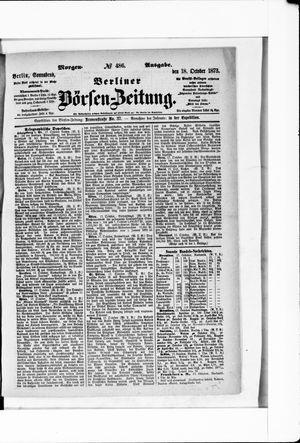 Berliner Börsen-Zeitung vom 18.10.1873