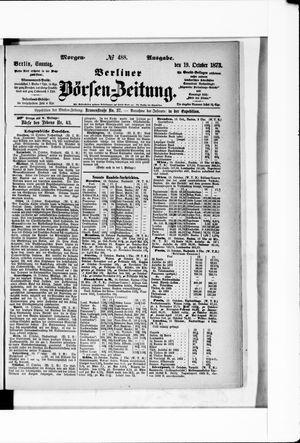 Berliner Börsen-Zeitung vom 19.10.1873