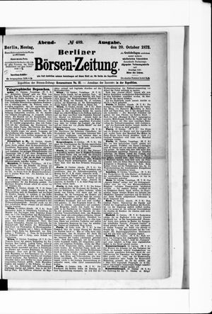 Berliner Börsen-Zeitung vom 20.10.1873
