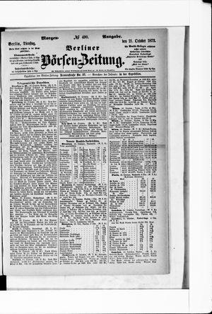 Berliner Börsen-Zeitung vom 21.10.1873