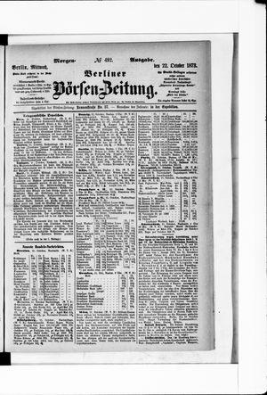 Berliner Börsen-Zeitung vom 22.10.1873