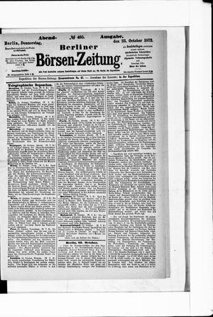 Berliner Börsen-Zeitung vom 23.10.1873