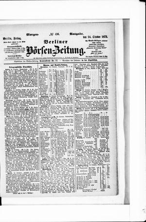 Berliner Börsen-Zeitung vom 24.10.1873