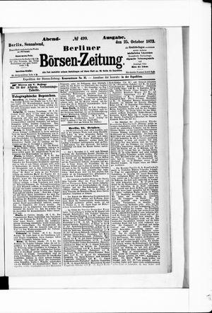 Berliner Börsen-Zeitung vom 25.10.1873