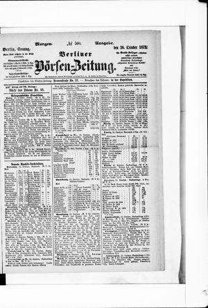 Berliner Börsen-Zeitung on Oct 26, 1873